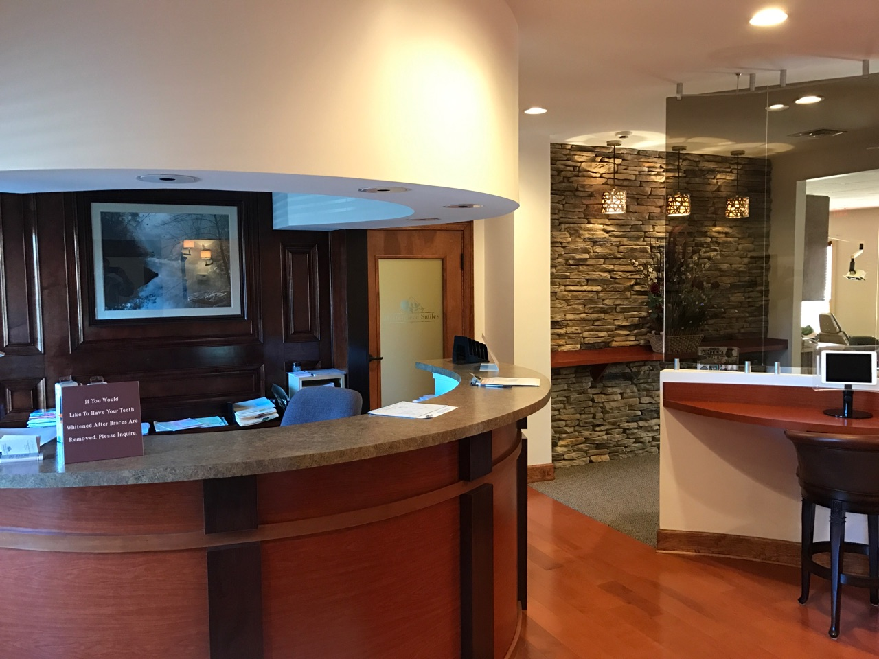 Check-in desk at Masterpiece Smiles Marietta GA